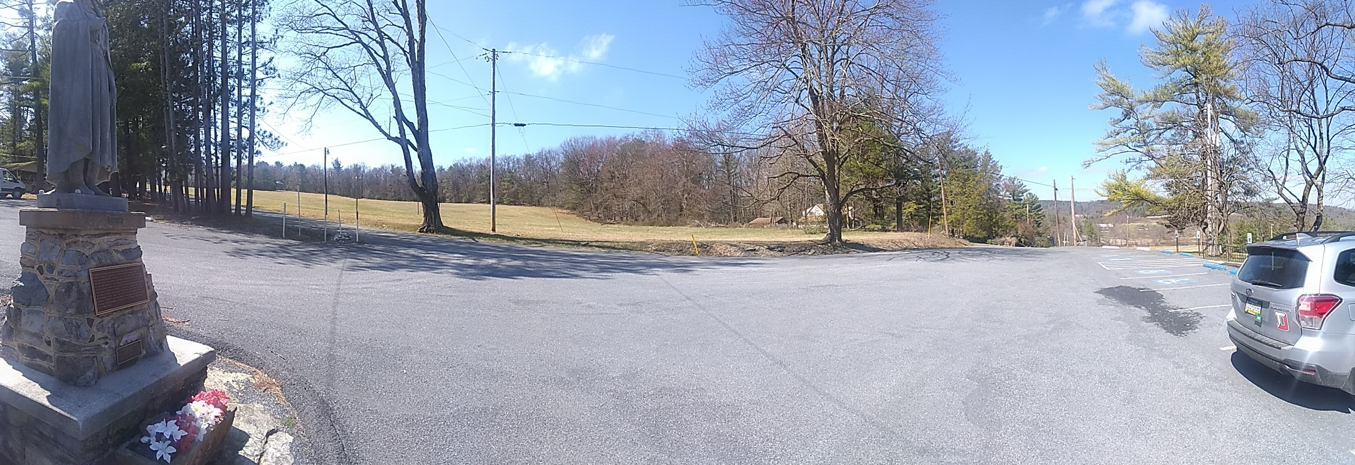 Panoramic View of area, near Mary Jemison Statue