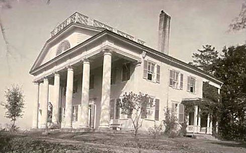 This photo shows the Leroy Pope home that was greatly used by the military during 1814 and again during the civil war.