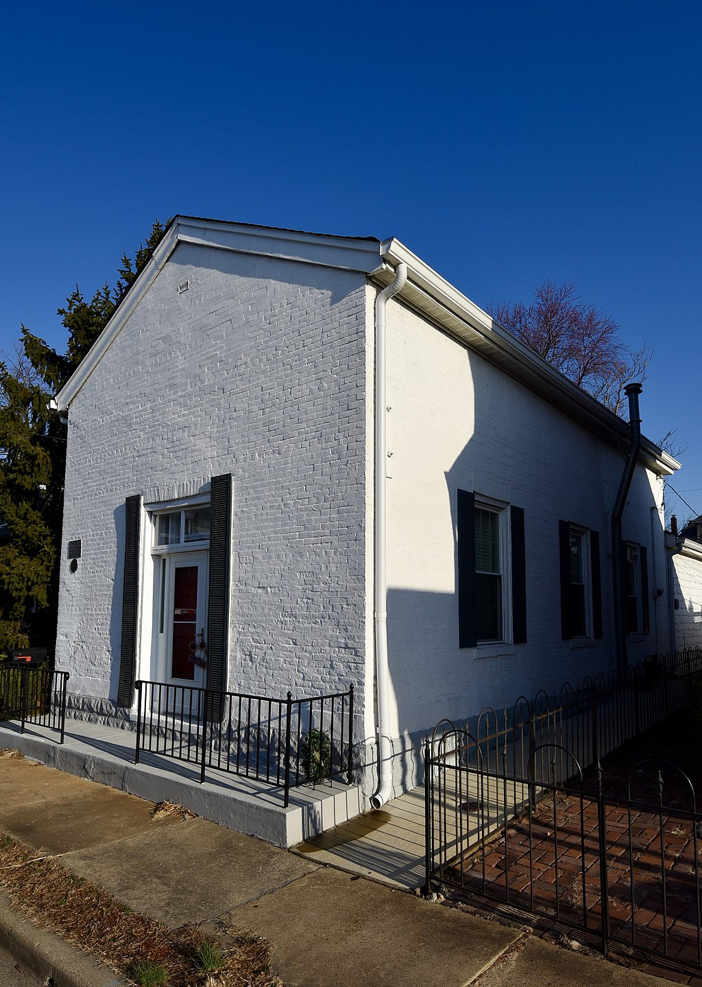 The historic African Church building was built around 1855 by slaves and served as the first house of worship for the St. John African Methodist Episcopal Church congregation.