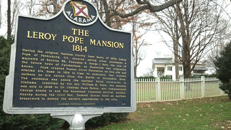 The Leroy Pope mansion, called Poplar Grove, was officially built in 1814