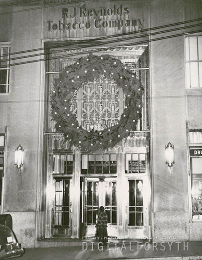 Christmas at the Reynolds Building, 1938