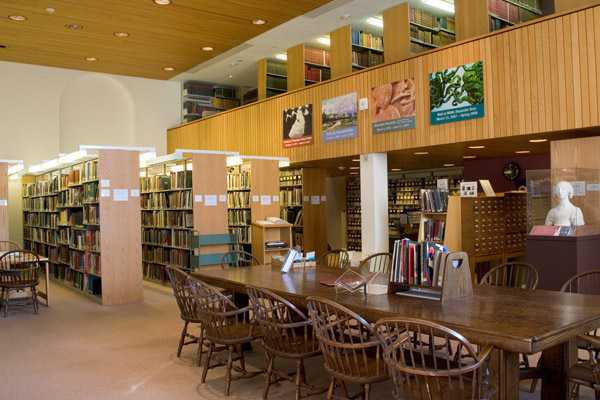 The museum library is located on the museum's second floor and holds 50,000 books and 45,000 slides