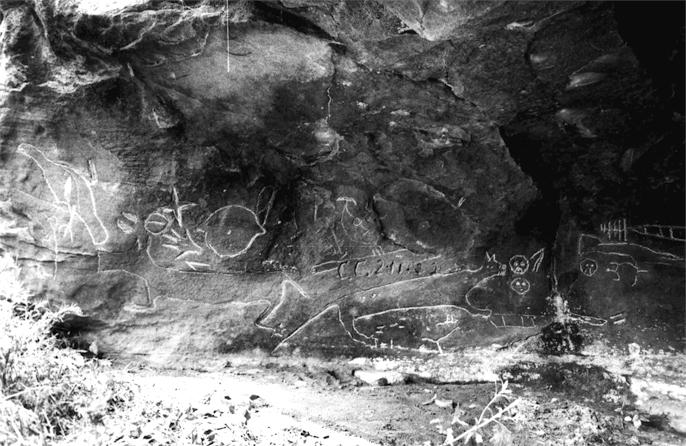 Indian Cave petroglyphs