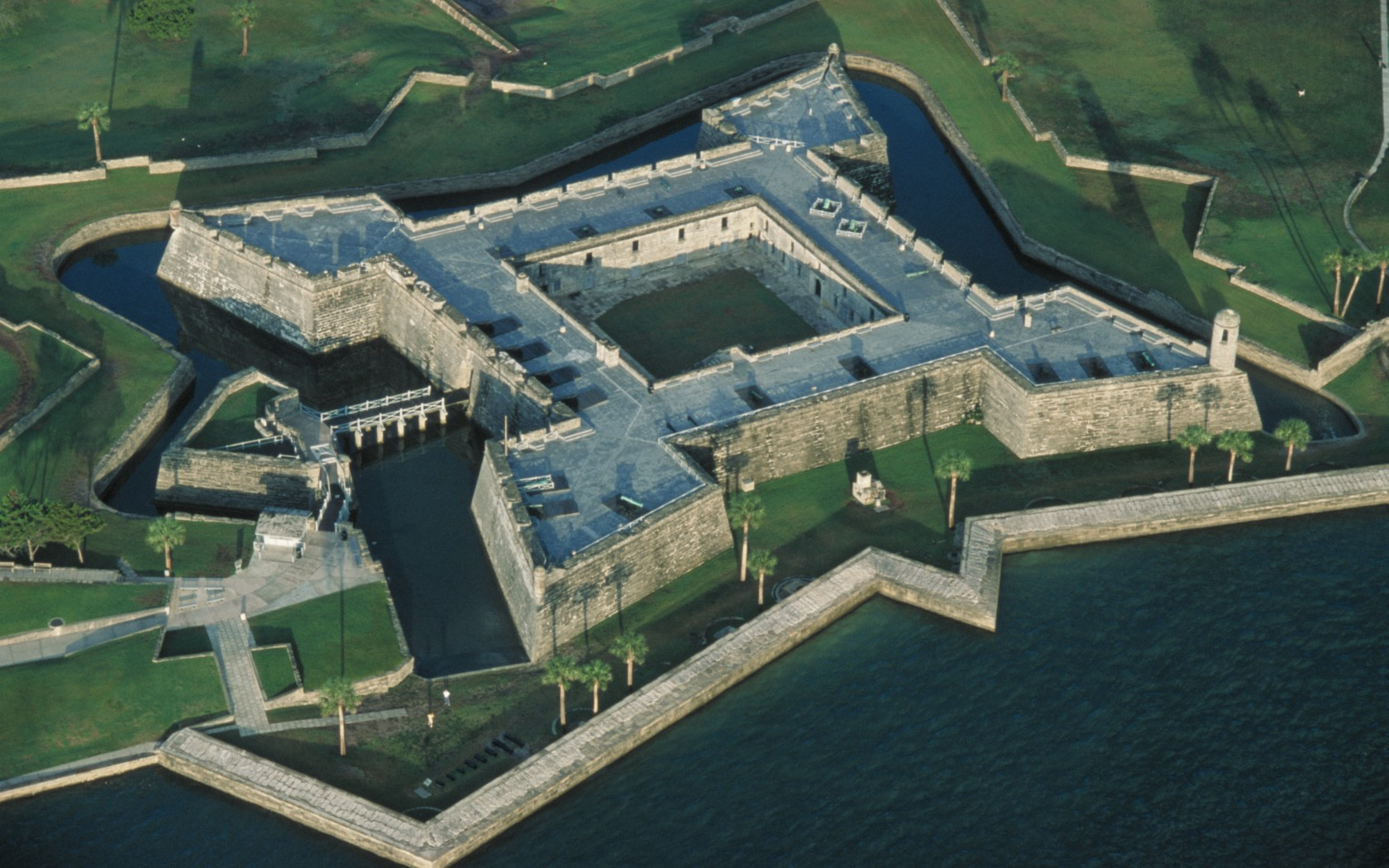 Visitors can tour this reconstructed fort, which contains many elements of the original fort constructed by the Spanish in the 17th century.
