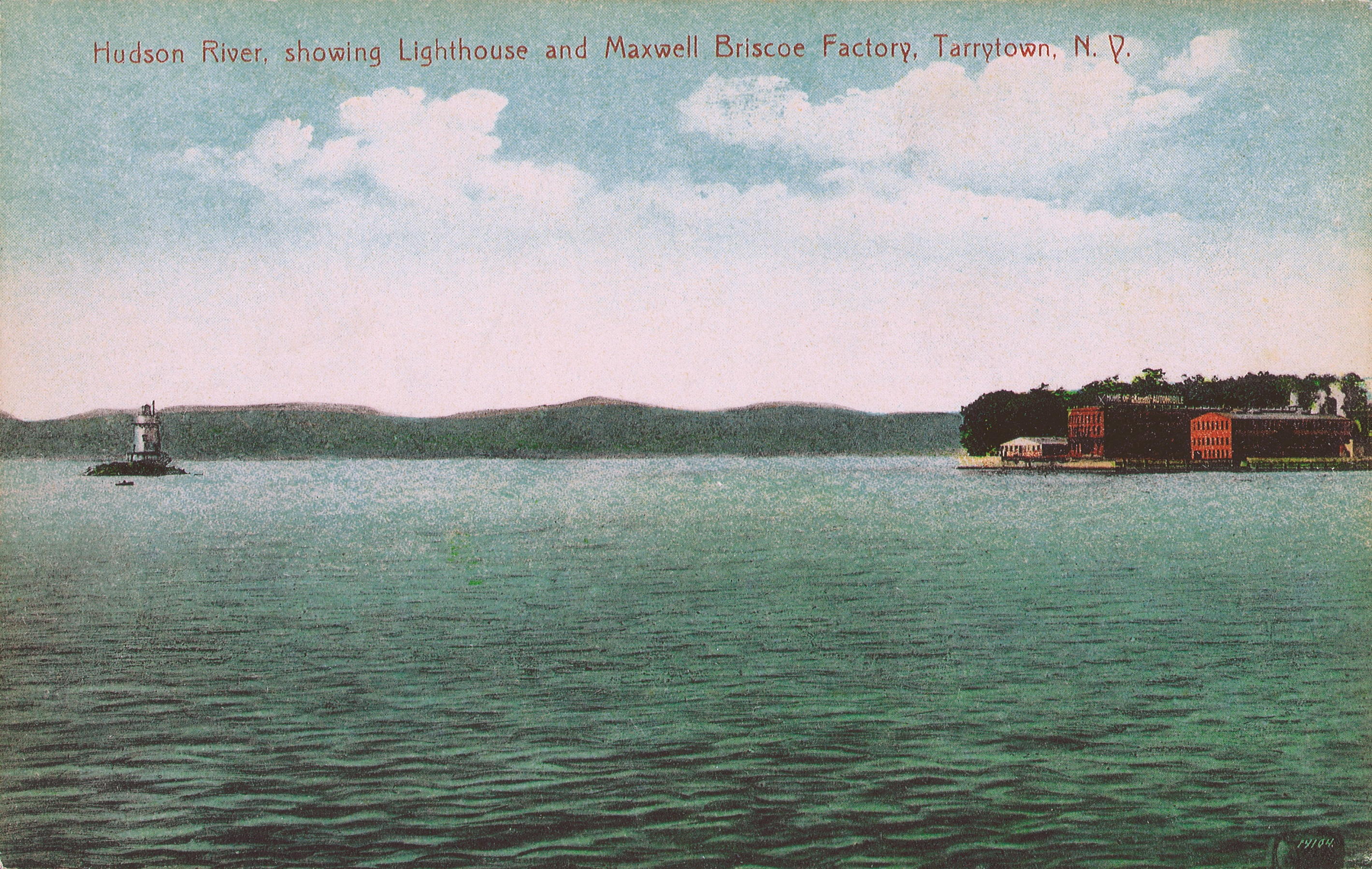 Hudson River Lighthouse and Maxwell-Briscoe Factory (1910)