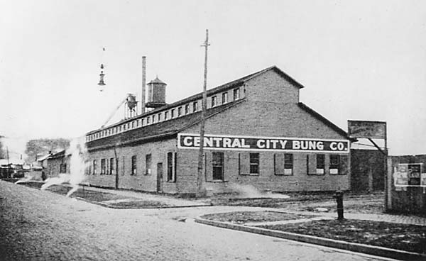 The only known photograph of the Central City Bung Company factory. Image courtesy of the West Huntington Public Library.