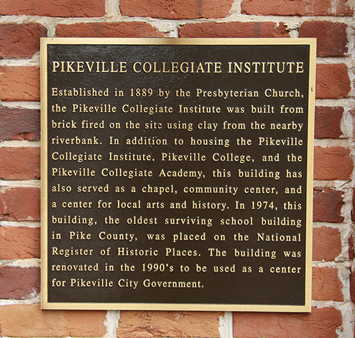 A plaque, commemorating the building's significance