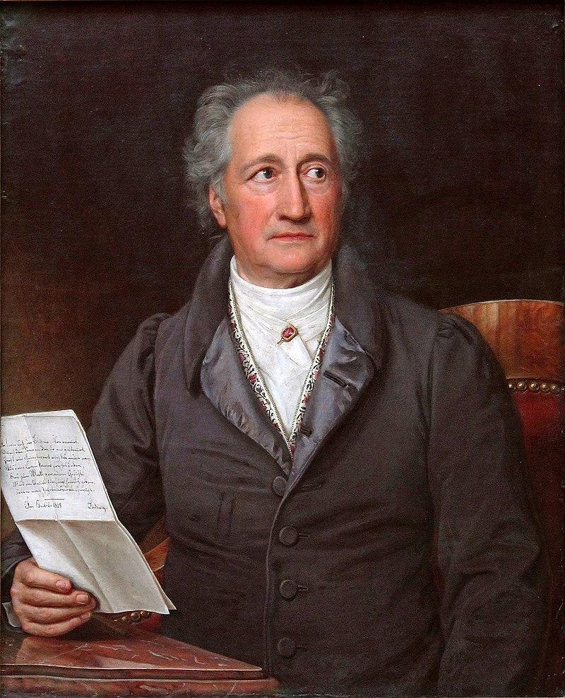 Goethe in 1828 by Joseph Karl Stieler