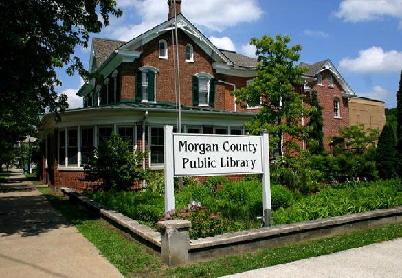 Morgan County Public Library, once home to the Bath Town Hall. Courtesy of Morgan County Public Library.