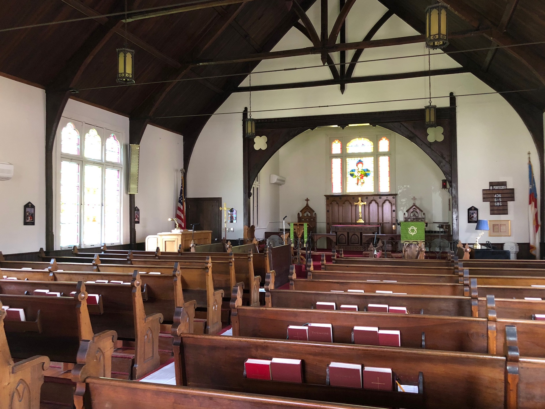 Interior of Saint Mark's Episcopal Church. Courtesy of Saint Mark's.