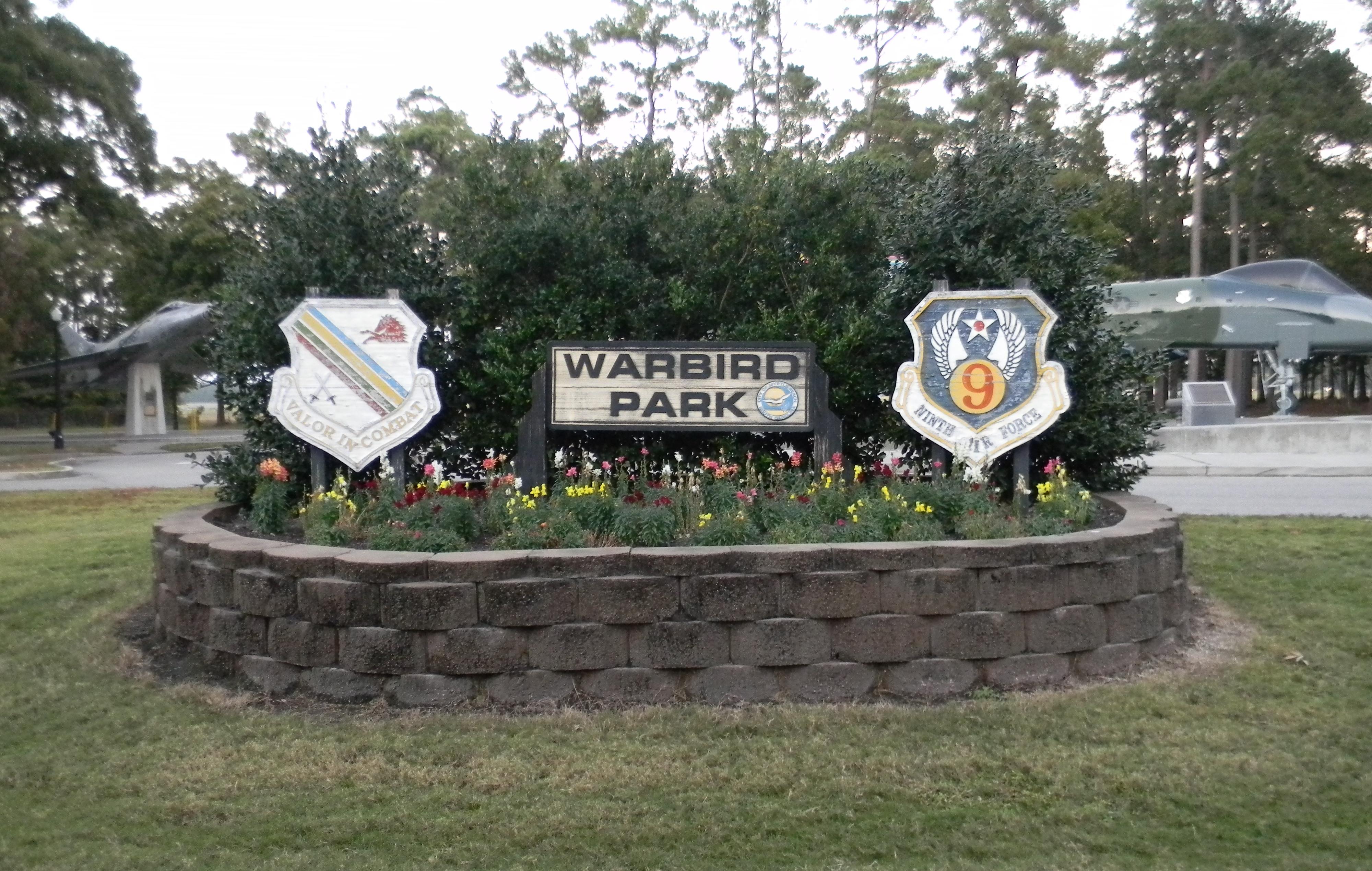 Warbird Park memorial sign