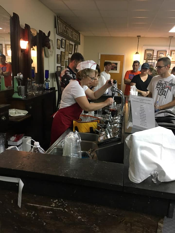 Old Fashioned Soda Fountain from Burtons Sport Shop. Operates on special events. See our Facebook Page for Event Dates.