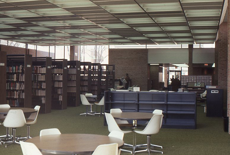 Cook Library Adult Services Department, circa 1970