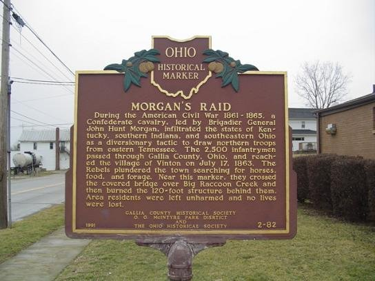Historical Marker for Morgan's Raiders