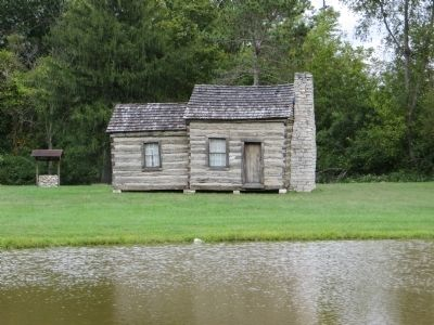 The Pioneer Stark Cabin was built by James Hart Stark, who went on to found Stark Brother's Nursery.