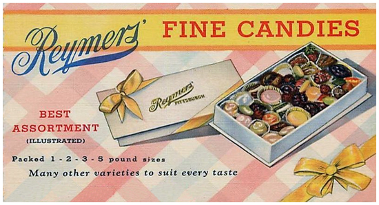 Vintage Advertisement for Reymer's Assorted Candies and Chocolates