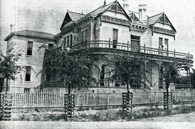 1887 Photo of the Hirshfeld Mansion in Austin, Texas.