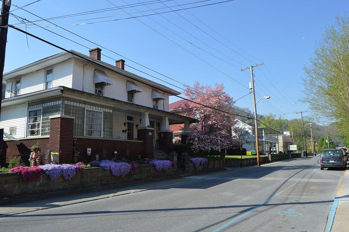 View of several houses along College Street