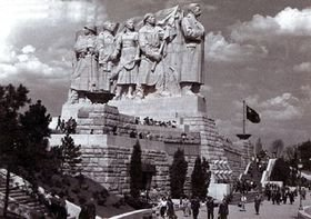 The world largest Stalin statue debuted in 1955 in Prague, Czechoslovakia.