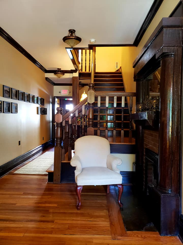 The bed and breakfast's entryway
