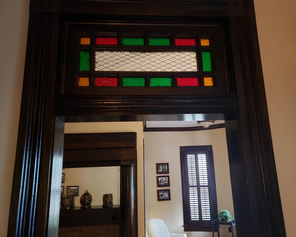 One of the mansion's doorways