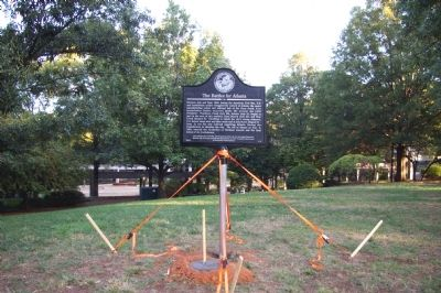 The marker for the Battle of Atlanta.