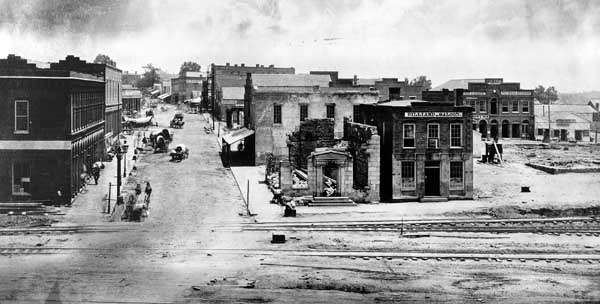 A picture of Atlanta in 1864, just one day before the city surrendered to the Union.
