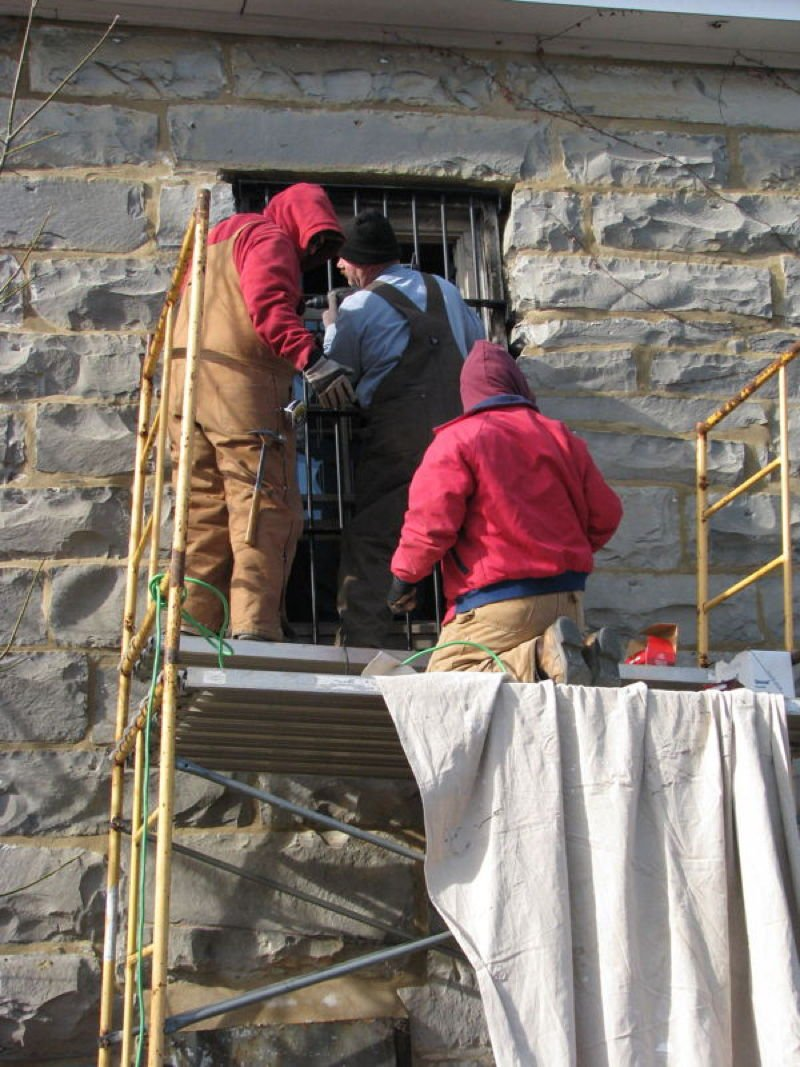 Restoration process of Metcalfe County Jail, 2013