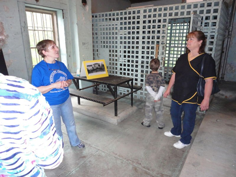 Metcalfe County Historical Society members give public tours of Metcalfe County Jail, 2013
