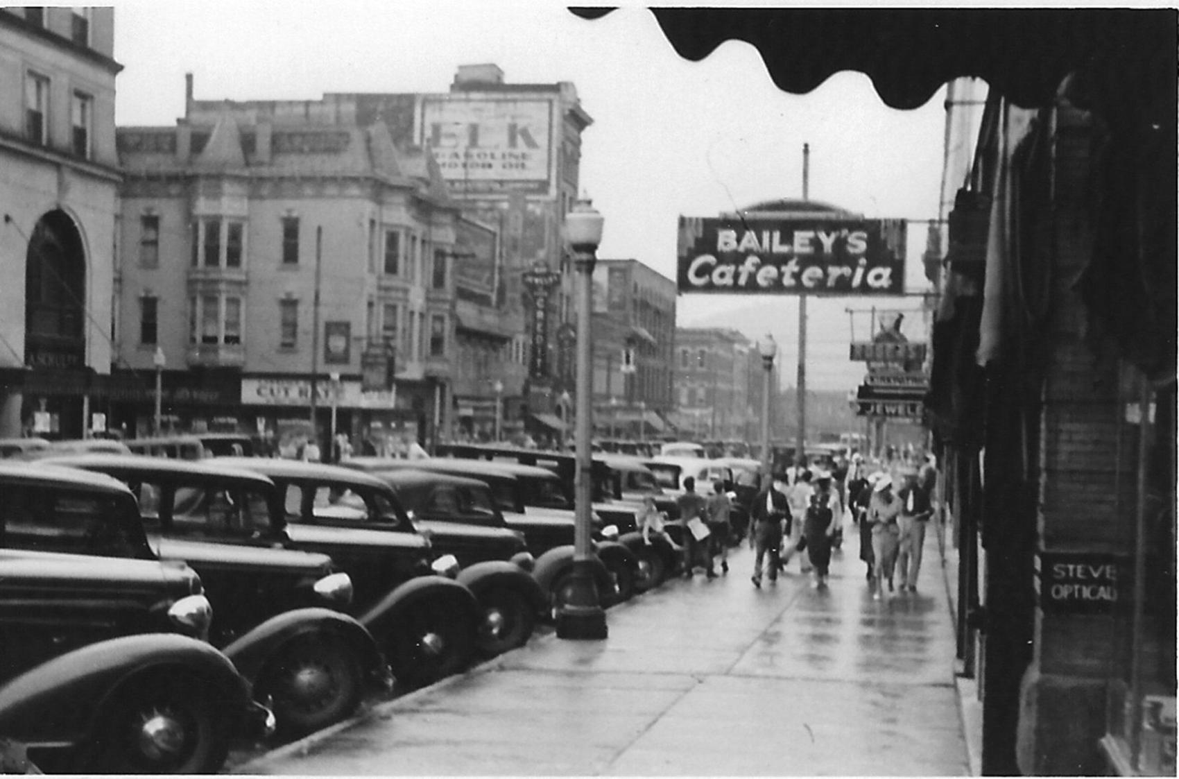Bailey's Cafeteria, located on the east side 400 Block of 9th Street.