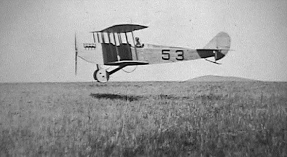 Lt Carlton G. Chapman landing the first military aircraft in  Fort Worth on November 20, 1915