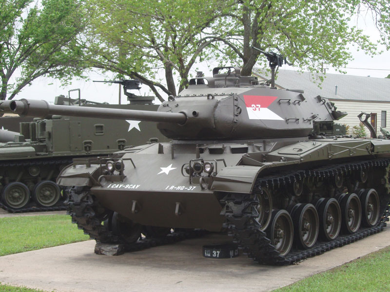This M-41 Tank includes an interpretive sign.