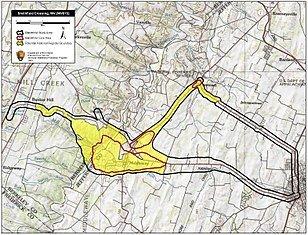Map of the Battle of Smithfield Crossing