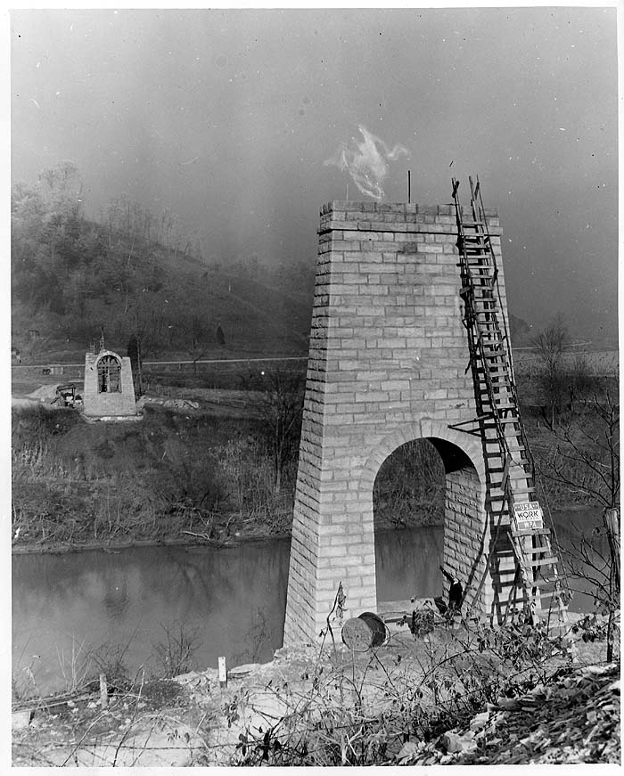 Photo taken shortly after the bridge's construction