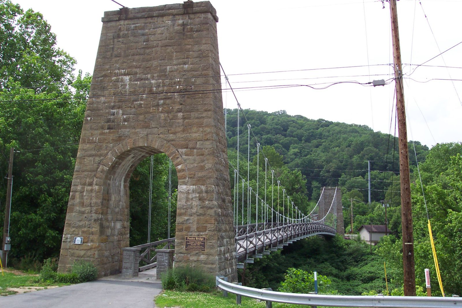 Side view of the bridge