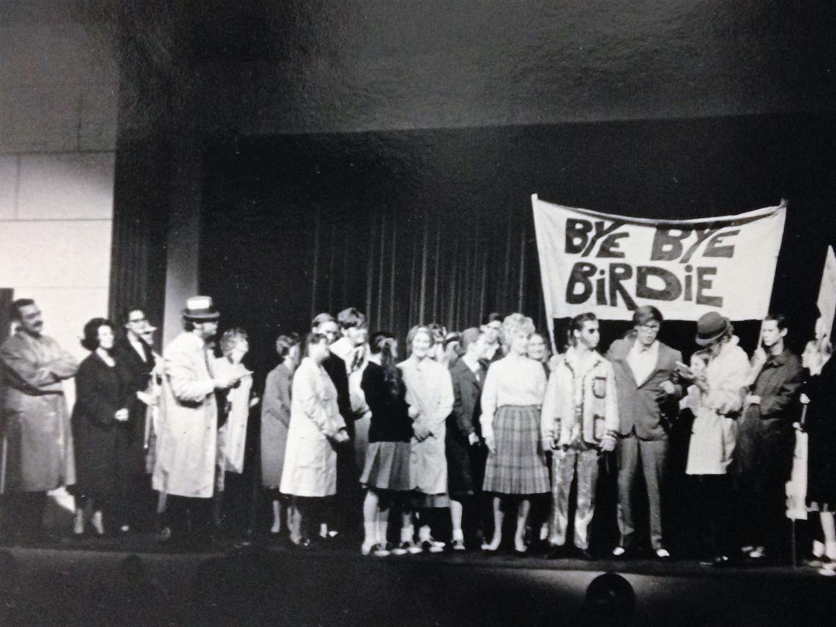 """The Community Players during """"Bye Bye Birdie"""" in 1971"""
