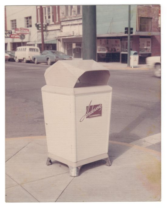 Anderson's Trashcan Advertisements