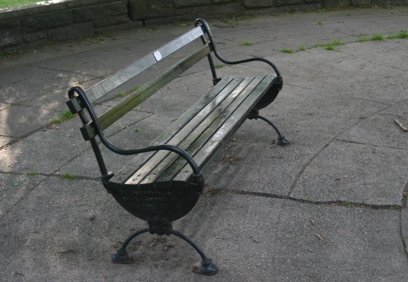 Wright's bench in Fort Greene Park