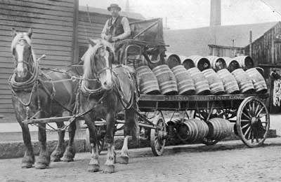 Beer wagon built by the Charles Abresch Company, 1889