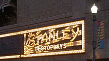 Stanley Theater Sign: An Artifact of the Theater's Origins