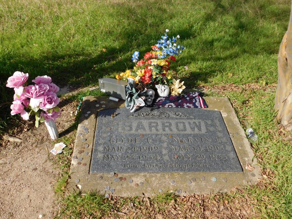 Clyde Barrow's grave.