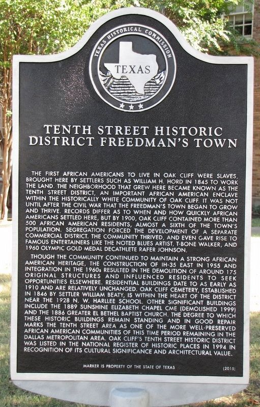 This historical marker is located in front of the N. W. Harllee Early Childhood Center and provides a historical overview of the neighborhood.
