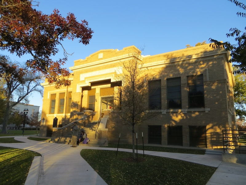 The Potter County Library was built in 1922.