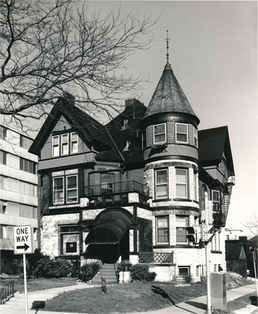 Adler House, 1989. Photo credit: Wisconsin Historical Society