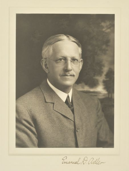 Emanuel D. Adler, 1914. Photo credit: Wisconsin Historical Society