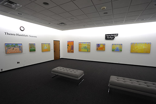 One of the artwork displays within the museum from artist Theora Hamblett