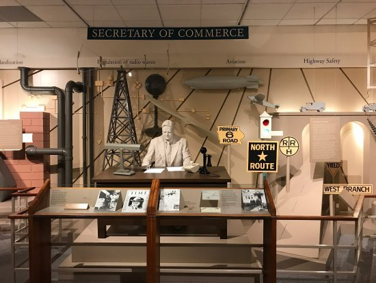 The Library-Museum includes 8 permanent galleries, such as this one depicting Hoover during his tenure as Secretary of Commerce. Image obtained from TripAdvisor.