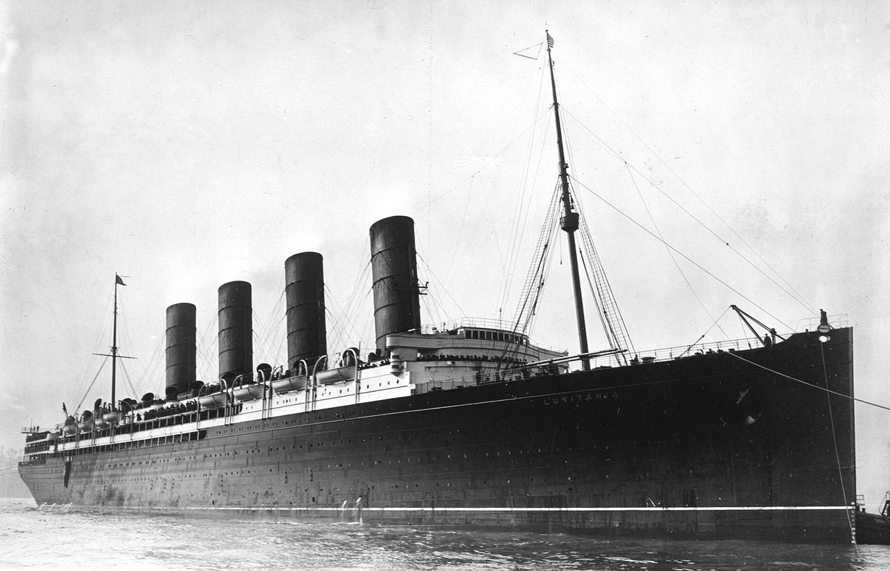 The Lusitania was the largest ship in the world when it was built.