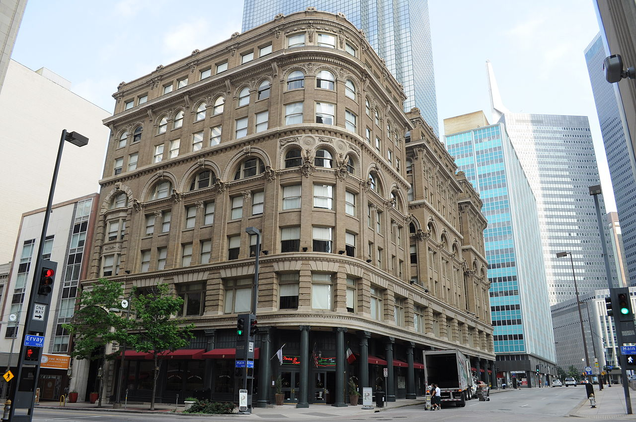 The Wilson Building was erected in 1904 and is one of the more beautiful  historic buildings in Dallas.