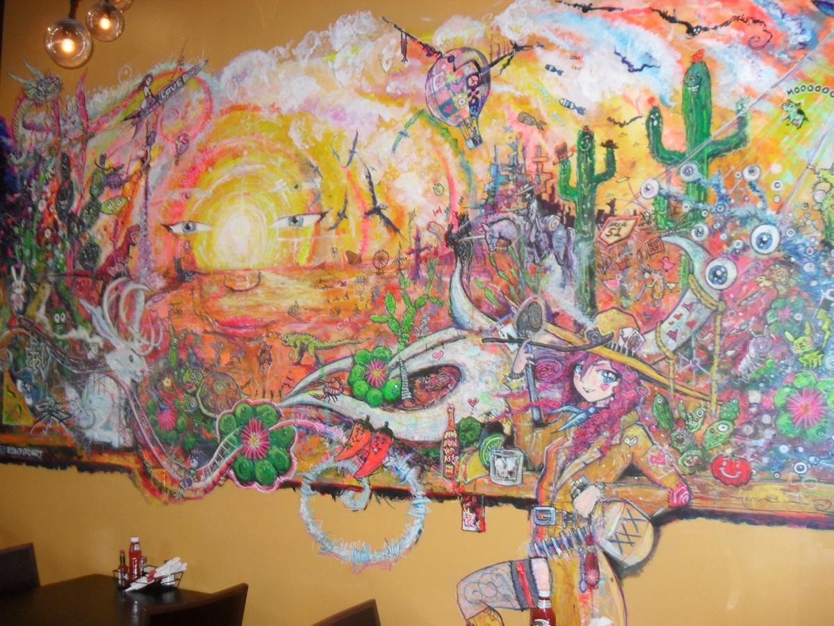 Mural inside the new Calamity J